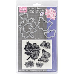 Sizzix Framelits 'Butterflies #3' Stamp and Die-Cut Set