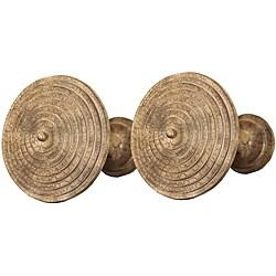 Menagerie 'Tuscan Crackle' Large Drapery Holdbacks (Set of 2)