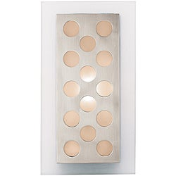 Access Aquarius Dots 1-light Brushed Steel Wall Fixture