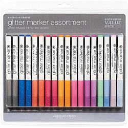 American Crafts Glitter Markers Extreme Value Pack (18 Count)