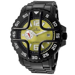 Croton Men's 'Croton' Black Ion-Plated Stainless Steel Watch