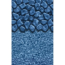 Swimline 41-foot Oval Boulder Swirl Overlap Pool Liner