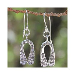 Sterling Silver 'Siamese Snakes' Earrings (Thailand)