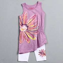 Flapdoodles Girl's Daisy Tunic Set
