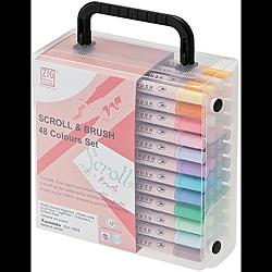 Zig Memory System Scroll & Brush Color Set (Set of 48)