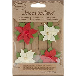Jolee's Boutique Poinsettias Christmas Stickers