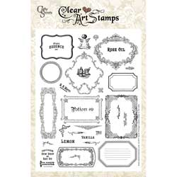Crafty Secrets Clear Art Stamps Large -Labels And Frames