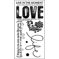Technique Tuesday 'Live In The Moment' Clear Stamps