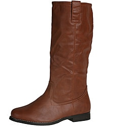 Neway by Beston Women&#39;s &#39;vivian-03&#39; Brown Knee-high Boots