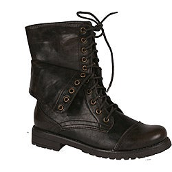 Neway by Beston Women's 'legend-03' Brown Combat Boots