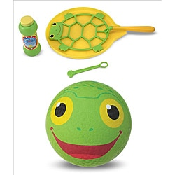 Melissa & Doug Sunny Patch Boy's Kickball and Bubbles Set