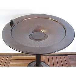 Copper Finish Tall Birdbath
