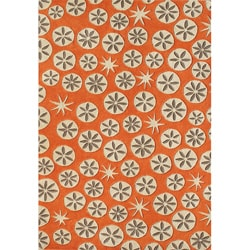 Alliyah Handmade Coral Rose New Zealand Wool Rug (8'x10')