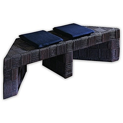 Plaid Dark Chocolate Picnic Bench