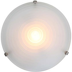 Nimbus Satin Stepped Acid Frosted Glass Flush Mount