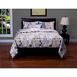 Ornamental 6-piece Cal King-size Duvet Cover and Insert Set