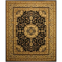 Black Esfahan Rug (8'2 x 9'10)