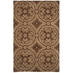 Hand-tufted Dynasty Brown Rug (7'9