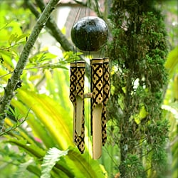 Checkered Burnt Bamboo Chime (Indonesia)