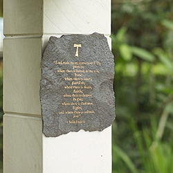 Volcanic Slate 'Lord Make Me an Instrument' Engraved Plaque (Indonesia)