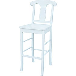 Empire White 30-inch Stool