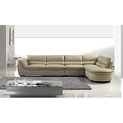 Furniture of America Kinsley Leatherette 3-piece Sectional ...