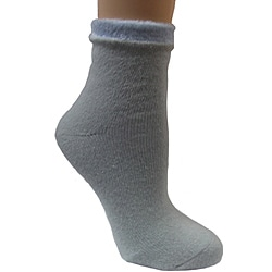 Women's Light Blue Shea Butter Double Layer Socks