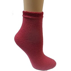 Women's Red Shea Butter Double Layer Socks