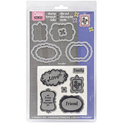 Sizzix Framelits 'Message Frames' Dies with Clear Stamps (Pack of 7)