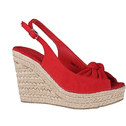 Refresh by Beston Women's 'tamara-04' Red Espadrilles