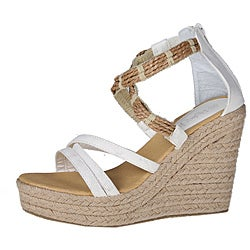 Refresh by Beston Women's 'tamara-01' White Espadrilles