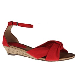 Refresh by Beston Women's 'ZOE-02' Red Mini Espadrilles
