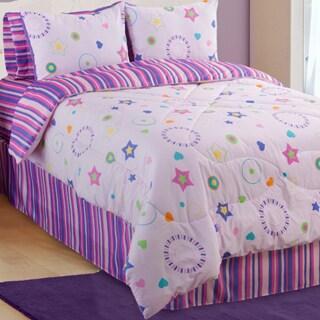 Glow In The Dark Star Glow 4-piece Queen-size Comforter Set