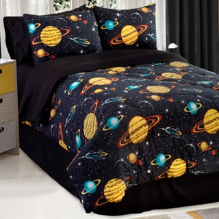 Galaxy Glow In The Dark 4-piece Queen-size Comforter Set