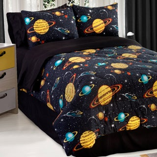 Galaxy Glow In The Dark Full-size 4-piece Comforter Set