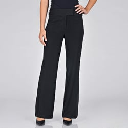AnnaLee + Hope Women&#39;s Black Tuxedo Pants
