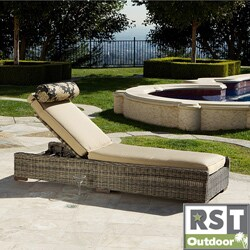 RST Resort Collection Weathered Grey Outdoor Chaise Lounger