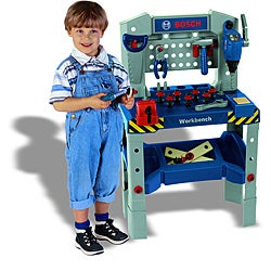 Theo Klein Bosch Adjustable Height Workbench with Sound