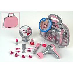 Theo Klein Braun Kids' Pink/Gray Dress-up Accessories Beauty Case