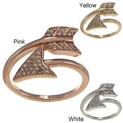 Victoria Kay 14k Gold 1/6ct TDW White Diamond Arrow Ring (I-J, I1-I2)