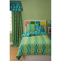 Whimsy 6-piece Reversible Full-size Duvet Cover Set