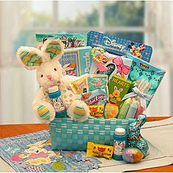 Little Cottontails Blue Easter Activity Basket