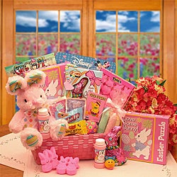 Little Cottontails Pink Easter Activity Basket