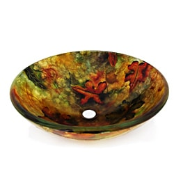 Autumn Glass Vessel Sink