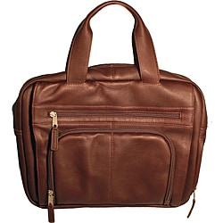 Latico 'Heritage' Top-zip Cafe Leather Laptop Brief