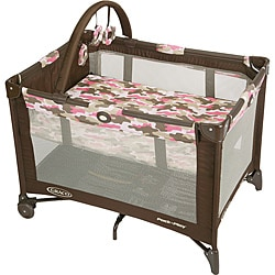 Graco Pack 'n Play Playard with Bassinet in Camo Jane Pink