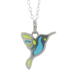 Sunstone Sterling Silver Hummingbird Necklace