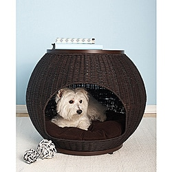 Hand-woven Deluxe Igloo Pet Bed