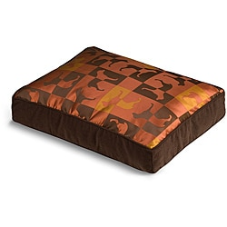 Crypton 'Gameboard' Burnt Orange Dog Bed (36 x 44)