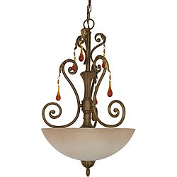 Nuvo Lighting 'Cortina' Dune Gold 3-light Pendant